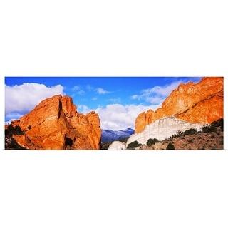 """Rock formations, Garden of The Gods, Colorado Springs, Colorado"" Poster Print"
