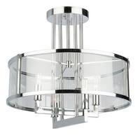 "Artcraft Lighting AC10983 Brinkley 4 Light 16-1/2"" Wide Semi Flush Drum Ceiling Fixture"