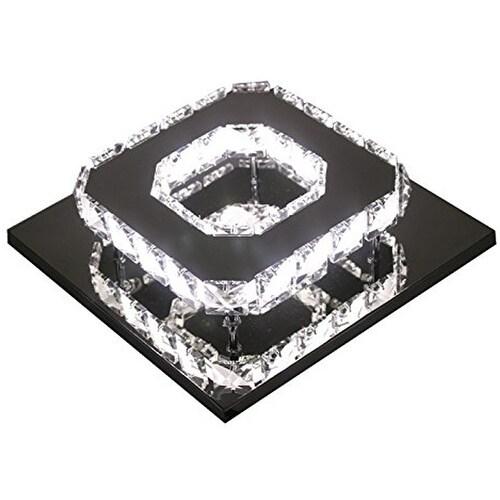 LED Crystal 1 Light, Transparent Electroplating Stainless Steel Ceiling Light