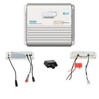Boss Marine 2CH Mosfet Power Amplifier 800W