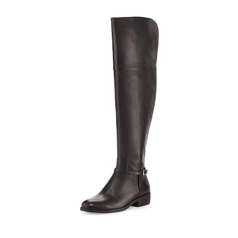 56adcd46bc Cole Haan Womens Valentia OTK Boot Leather Almond Toe Over Knee Riding Boots