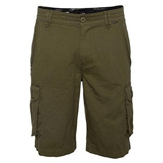 Hurley Mens Twill Distressed Cargo Shorts