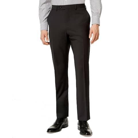 Vince Camuto Mens Pants Black Size 33X36 Slim Fit Dress - Flat Front