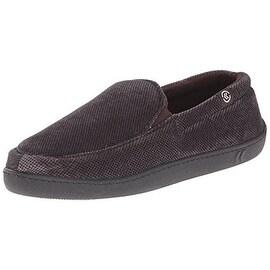 Isotoner Mens Velour Memory Foam Loafer Slippers