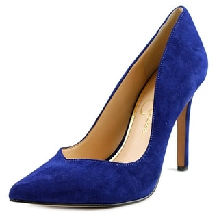 Jessica Simpson Cylvie Women Pointed Toe Suede Blue Heels