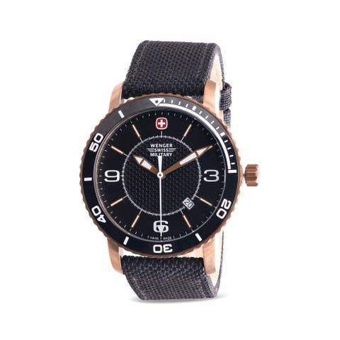 Wenger Swiss Military Roadster Leather Mens Watch 01.9041.205C