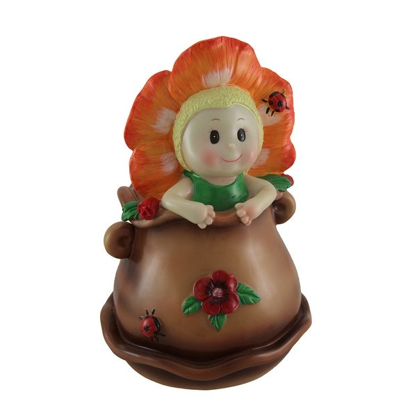Little Bloomer Orange Flower Baby Coin Bank. Opens flyout.