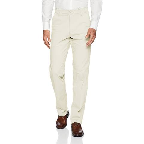 Lee Mens Chino Pants Beige Size 42x30 Stretch Comfort Straight Fit