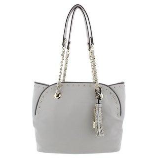 Jessica Simpson Womens Dorota Tote Handbag Faux Leather Studded - Medium