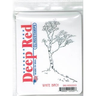 Deep Red Stamps White Birch Rubber Cling Stamp - 2.25 x 4
