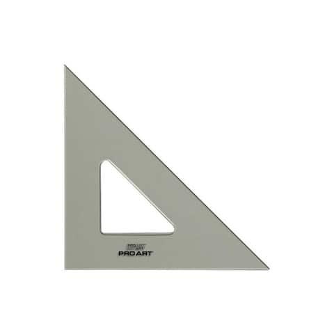 "Pro Art Triangle 10"" W/Ink Edge&FingLift 45/90 Smk"