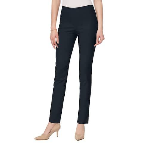 Charter Club Women's Chelsea Tummy Control Skinny-Leg Ankle Pants Navy Size 8