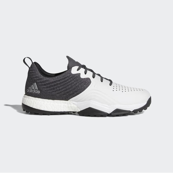 New Men's Adidas Adipower 40RGED S Golf Shoes Core Black/Cloud White/Silver Metallic AC8397. Opens flyout.