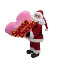 """12"""" Santa Claus """"Who's Your Sugar Daddy"""" Christmas Tabletop Decoration - RED"""