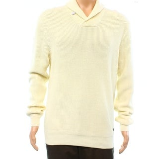 Polo Ralph Lauren NEW White Ivory Men Size Large L Shawl-Collar Sweater