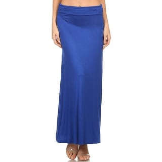 Women's Solid Relaxed Fit A-Line Maxi Skirt