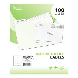 Ace Label 20022L Business Cards for Laser and Inkjet Printers - White