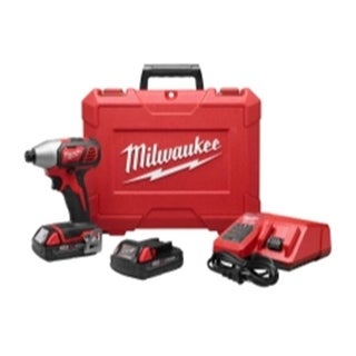 Milwaukee 2656-22CT M18 0.25 in. Hex Compact Impact Driver Kit