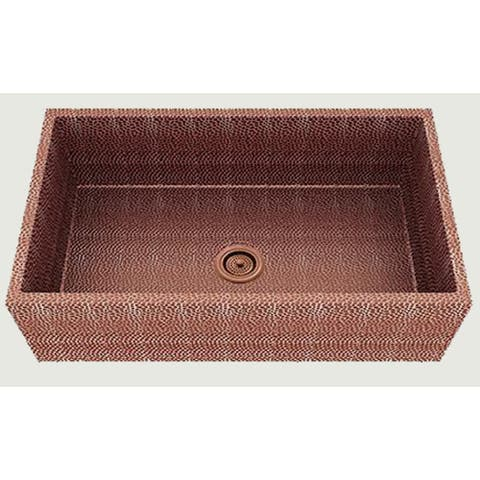 American Imaginations 33-in. W CSA Approved Rose Copper Kitchen Sink With Copper Finish And 16 Gauge - 19
