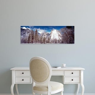 Easy Art Prints Panoramic Images's 'Snowy trees, Cathedral Rocks, Yosemite National Park, California' Canvas Art