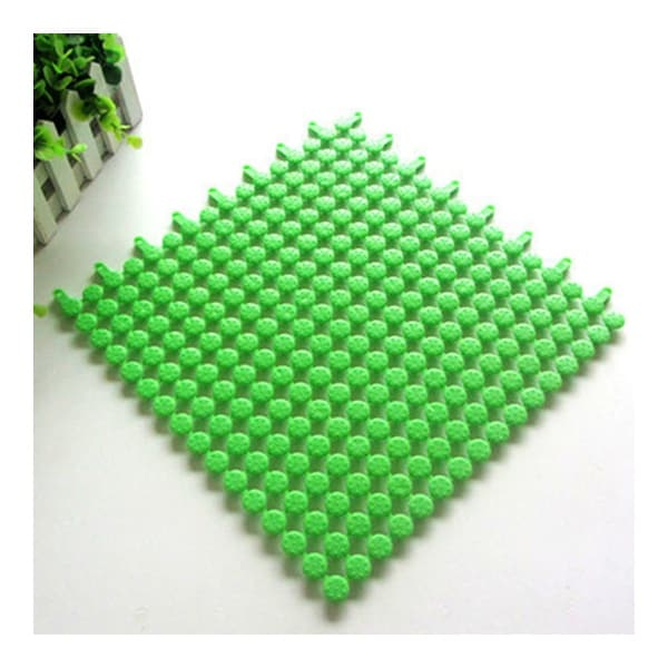 Creative PVC Floor Ground Mat Carpet Cuttable - green