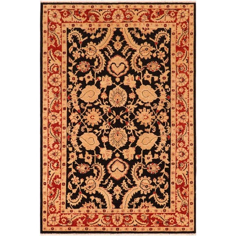 """Boho Chic Ziegler Janae Hand Knotted Area Rug -6'1"""" x 9'0"""" - 6 ft. 1 in. X 9 ft. 0 in."""