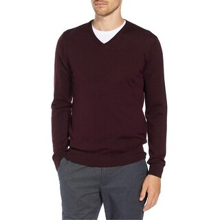 The Men's Store Bloomingdales Merino Wool V-Neck Sweater XX-Large 2XL Raisin