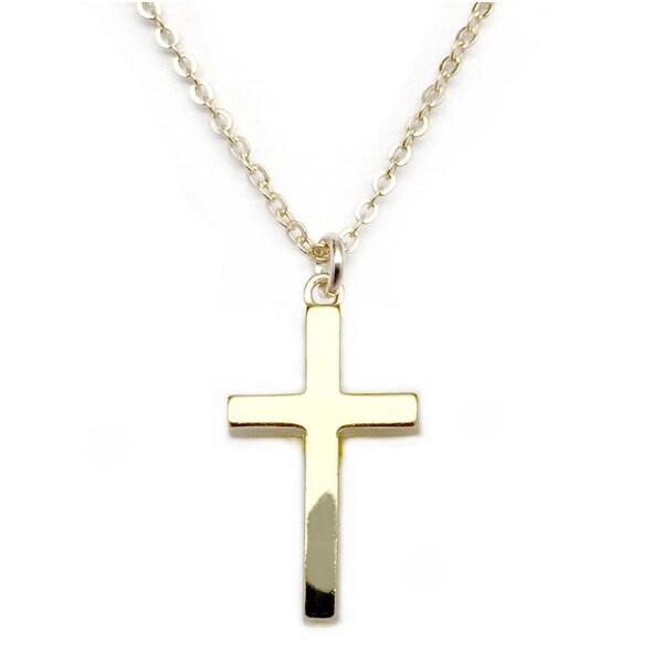 "Julieta Jewelry Cross Gold Charm 16"" Necklace"