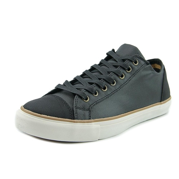 Aldo Sevide Men Round Toe Leather Black Sneakers