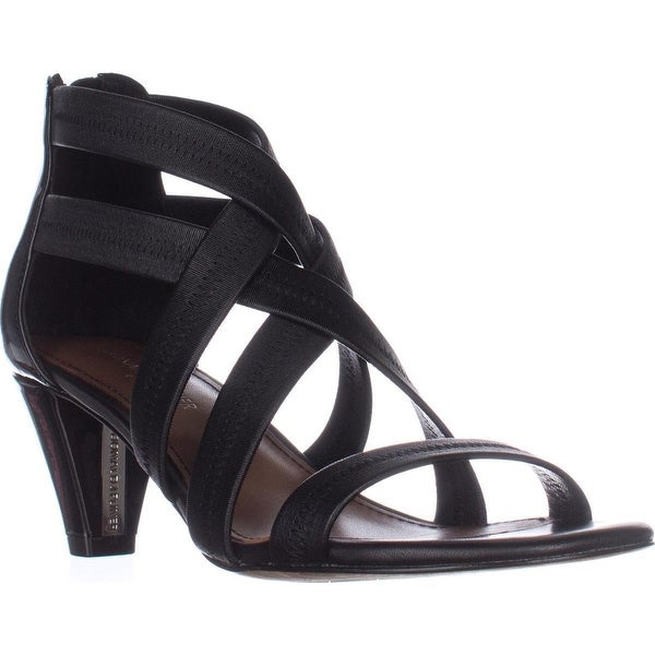 Donald J Pliner Vida Strappy Dress Sandals, Black/Black