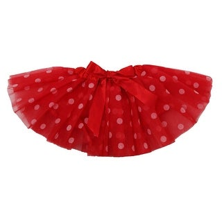 Baby Girls Red White Polka Dots Satin Elastic Waist Ballet Tutu Skirt 0-12M - 0-12 months
