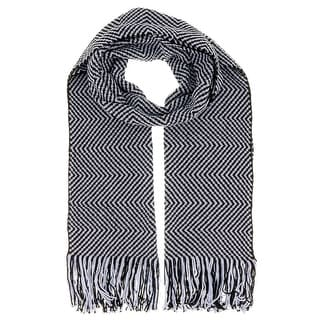 Missoni D4903 Wool Blend Crochet Knit Chevron Scarf