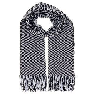 Missoni D4903 Wool Blend Crochet Knit Chevron Scarf