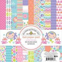 """Under The Sea - Doodlebug Double-Sided Paper Pad 6""""X6"""" 24/Pkg"""