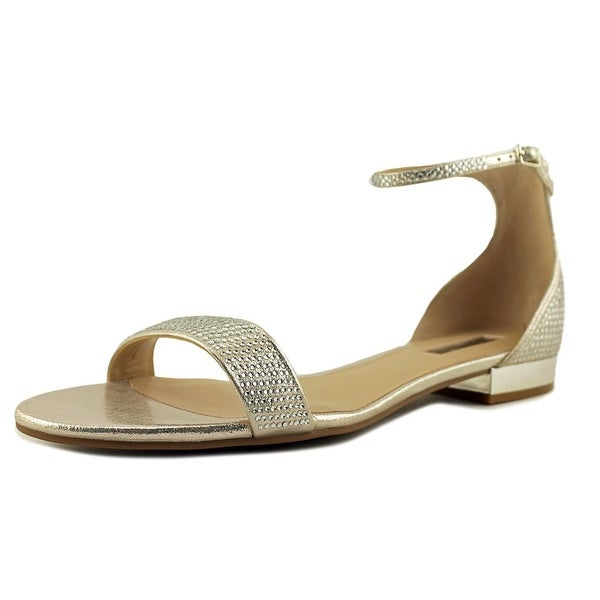 INC International Concepts Yaffa 2 Women Pearl Gold Sandals
