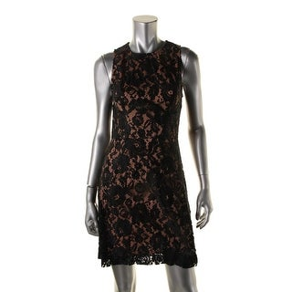 French Connection Womens Lace Lined Cocktail Dress - 6