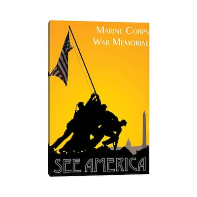 """iCanvas """"Marine Corps War Memorial By Zack Frank"""" by Creative Action Network Canvas Print"""