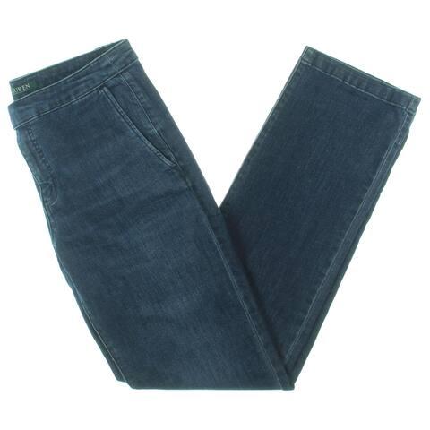 Lauren Ralph Lauren Womens Straight Leg Jeans Denim High Rise