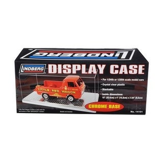 Lindberg Display Show Case with Chrome Base for 1-24 1-25 Model Cars