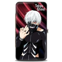 Tokyo Ghoul Masked Ken Kaneki Hand To Face Pose Pinks Hinged Wallet - One Size Fits most
