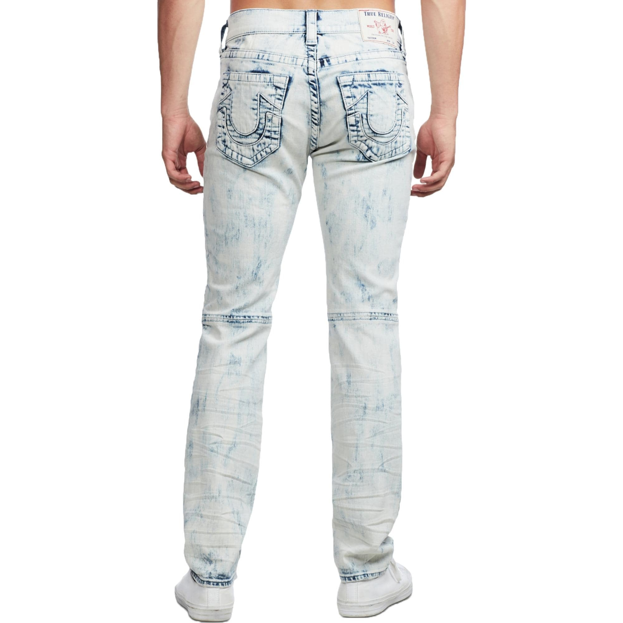 True Religion Mens Rocco Skinny Jeans Denim Relaxed Fit Battery Acid