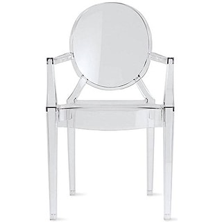 2xhome Modern Style Clear Ghost Armchair Made From Polycarbonate