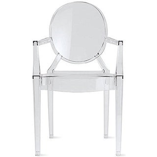2xhome Clear Modern Style Clear Ghost Armchair Made From Polycarbonate