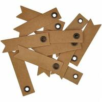 Kaisercraft  Lucky Dip Kraft Pennants With Eyelet 1 - 0.5 x 2 in.