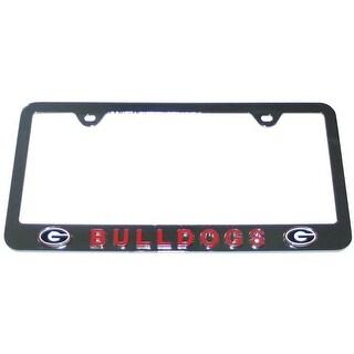 Georgia Bulldogs Raised Metal Chrome Auto License Plate Tag Frame