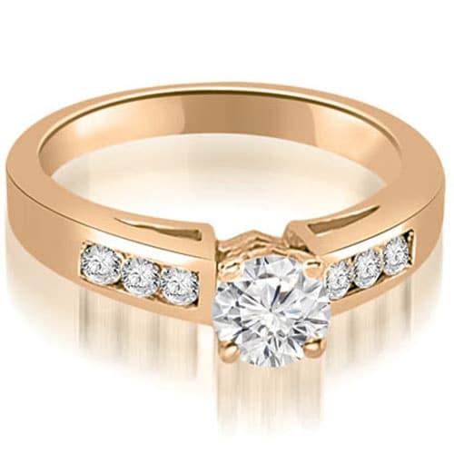 1.20 cttw. 14K Rose Gold Channel Set Round Cut Diamond Engagement Ring