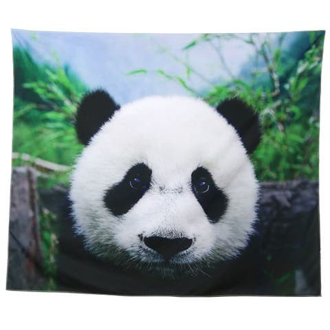 Polyester Panda Pattern Outdoor Camping Folding Picnic Beach Blanket Mat Pad Multicolor