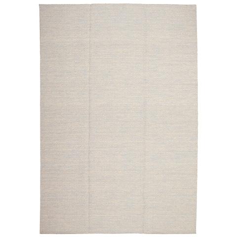 Flat-weave Nevada Cream, Slate Blue Wool Kilim