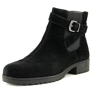 Aerosoles Notebook Women  Round Toe Suede Black Ankle Boot