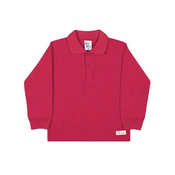 Toddler Boy Polo Shirt Long Sleeve Classic Tee Pulla Bulla Sizes 1-3 Years